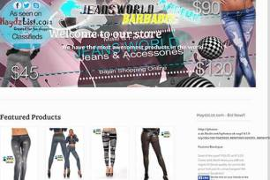 Jeans World Barbados Website