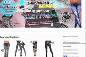 Jeans World Barbados Website